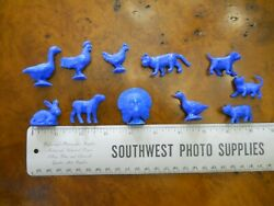 Mpc Farm Animals Assorted, 11 Different Animals, Scale 1=1' New Without Pack