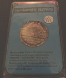 1987 Numismatic News 35th Anniversary 1 Troy Ounce .999 Silver Art Round