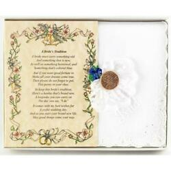 A Bride's Tradition (From Friend or Family to the Bride) Wedding Handkerchief $10.99