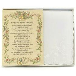 From a Friend to the Bride Wedding Handkerchief $10.99