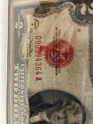 Error Smear 1928 G 2 Two Dollar Bill Red Seal United States Note Rare、wow