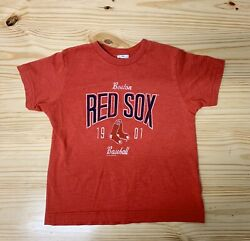 Boston Red Sox Distressed Style YOUTH XS TShirt MLB EUC $7.00