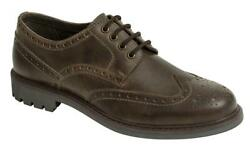 Hoggs Of Fife Inverurie Country Brogue Shoes Waxy Brown Coats And Jackets Menand039s