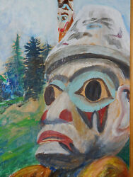 American Indian And039and039totem Pole Alaskaand039and039 Painting By Ann Goodman Wilcox Native