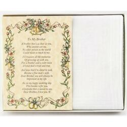 From the Bride to her Brother Wedding Handkerchief $10.99