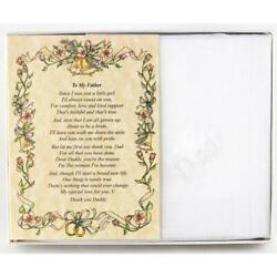 From the Bride to her Father Wedding Handkerchief $10.99