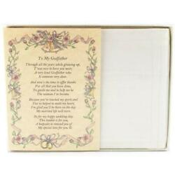 From the Bride to her Godfather Wedding Handkerchief $10.99