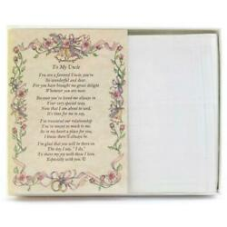 From the Bride to her Uncle Wedding Handkerchief $10.99