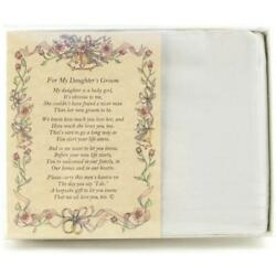 From the Bride's Parent to the Groom Poetry Wedding Handkerchief $10.99