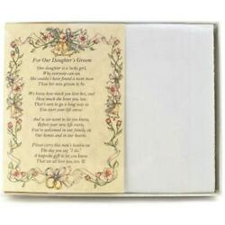 From the Bride's Parents to the Groom Poetry Wedding Handkerchief $10.99