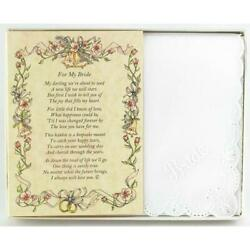 From the Groom to his Bride Wedding Handkerchief $10.99