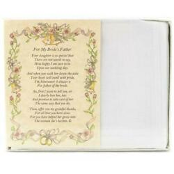 From the Groom to the Bride's Father Wedding Handkerchief $10.99