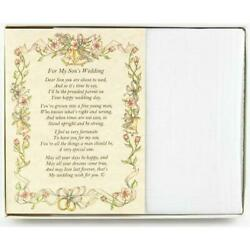 From the Parent of the Groom to the Groom Wedding Handkerchief $10.99