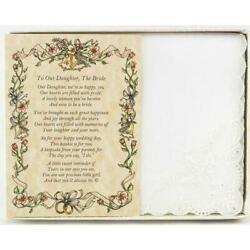From the Parents of the Bride to their Daughter Wedding Handkerchief $10.99