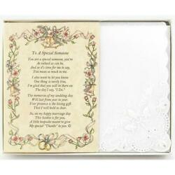 To A Special Someone Poetry Wedding Handkerchief $10.99