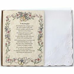 To My Daughter (From the Bride's Mother) Wedding Handkerchief $10.99
