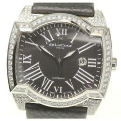 deLaCour Sakura Limited edition 222 limited after zirconia date auto men [e0604]