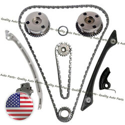 Pair Vvt Gear Timing Chain Kit For Land Rover Discovery Evoque Freelander 2.0