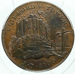 1795 ENGLAND Yorkshire CLIFFORD'S TOWER YORK Conder 12 Penny PCGS Coin i84269