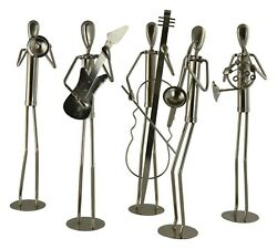 15 Inch Tall Metal Jazz Band Player Musical Figurines