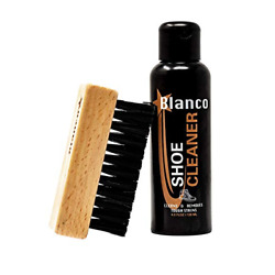 Blanco White Shoe Cleaner Kit With Brush, Cleaning Solution For Shoes And Leather