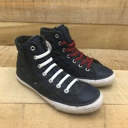 Converse Chuck Taylor All Star Kids Quilted Blue High Top Sneakers Youth 3 $27.99