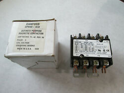 New Danfoss Dp040-4c0 Contactor With 208/240 Volt Coil 4 Pole 40 Amp Chipped