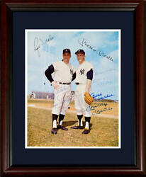 Mickey Mantle And Roger Maris Auto 8x10 Photo, Mantle Signed Twice, Framed. Psa