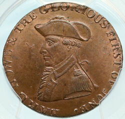 1794 England Hampshire Emsworth Admiral Howe Conder 1/2 Penny Pcgs Coin I83997