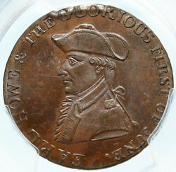 1794 England Hampshire Emsworth Admiral Howe Conder 1/2 Penny Pcgs Coin I83998