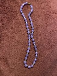 Natural Purple Jade Gold Necklace