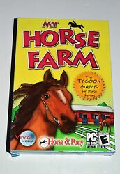 MY HORSE FARM THE TYCOON GAME FOR HORSE LOVERS BY VIVA MEDIA PC ROM NIP SEALED