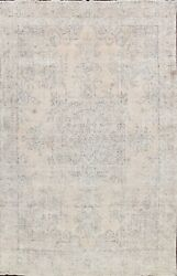 Semi Antique Traditional Handmade Distressed Wool Area Rug Evenly Low Pile 10x13