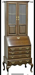 Ethan Allen Drop Front Secretary Desk With Curio Top - Local Pick Up Only