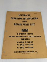 Minneapolis Moline 3 Point Hitch Cultivator C420/440/460 Manual S-361