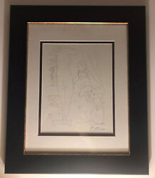 Circa 1952 Original Picasso Signed Lithograph From Suite Vollard