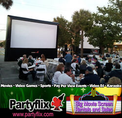 New 23ft Front Rear Inflatable Movie Screen Blower Blackout Free Shiping