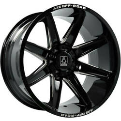 Set Of 4 New 22x12 Axe Artemis Wheels Gloss Black Milled 6x5.5 Chevy 6x135 Ford