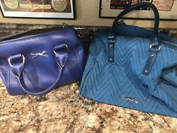 Bimba Lola Handbag Tote Satchel Greyhound Whippet Rescue Spain Blue Teal Purse $29.50
