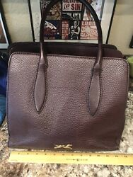 Bimba Lola Handbag Tote Satchel Greyhound Whippet Rescue Spain Burgundy Purse $45.00