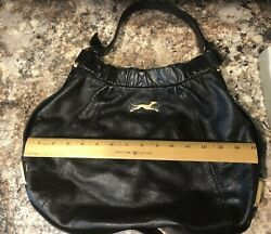 Bimba Lola Handbag Tote Satchel Greyhound Whippet Rescue Spain Black Purse Hobo $25.75
