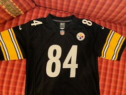 Steelers Antonio Brown 84 Youth L Jersey W/ Printed Signed Photograph
