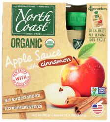 North Coast Cinnamon Apple Sauce Pack Of 6, 4/3.2 Oz Containers