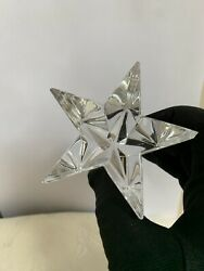 """Signed Baccarat Crystal Shooting Star Paperweight Paper Weight France 2""""x 3"""""""