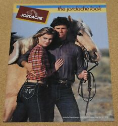 1982 Print Ad The Jordache Blue Jeans Look Lady Man Horse Style Fashion New York