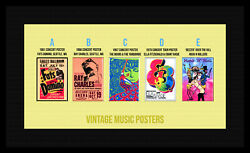 1961 - 1990s Music Concert Tour Posters 2.5 X 3.5 Magnets /mirrors /pinbacks