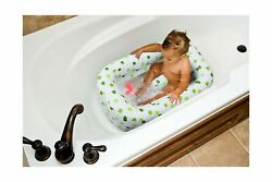Mommyand039s Helper Inflatable Bath Tub Wash Safe Padded Space White Green 6-24months
