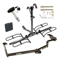 Trailer Tow Hitch For 06-15 Civic W/ Platform Style 2 Bike Rack + Lock + Cover