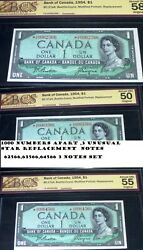 625666356664566 Replacement Fancy Serial Numbers.1954 Bank Of Canada 1