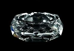 Rare Collectible French France Baccarat Crystal Cigarette Cigar Pipe Ashtray